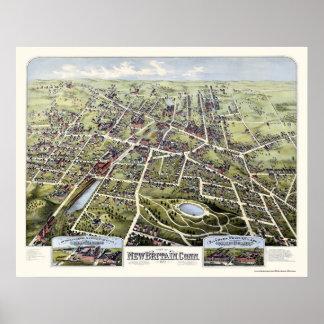 New Britain, CT Panoramic Map - 1875 Poster