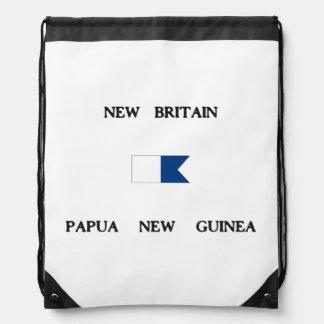 New Britain Papau New Guinea Alpha Dive Flag Cinch Bags