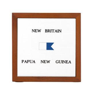New Britain Papau New Guinea Alpha Dive Flag Desk Organizer