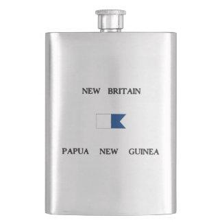 New Britain Papau New Guinea Alpha Dive Flag Hip Flask