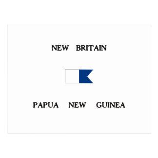 New Britain Papau New Guinea Alpha Dive Flag Postcard