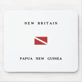 New Britain Papua New Guinea Scuba Dive Flag Mouse Pad