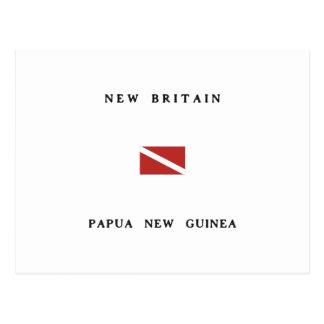 New Britain Papua New Guinea Scuba Dive Flag Postcard