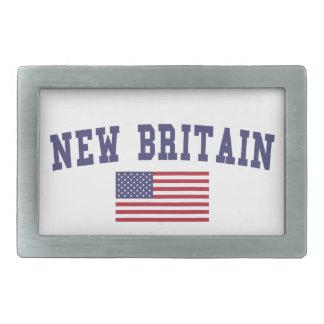 New Britain US Flag Belt Buckle