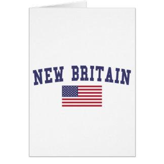 New Britain US Flag Card