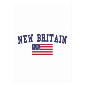 New Britain US Flag Postcard