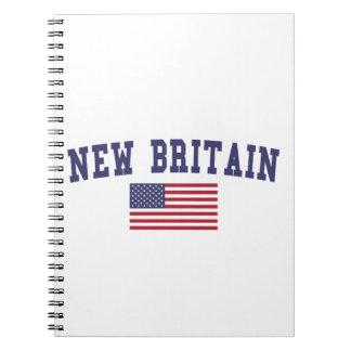New Britain US Flag Spiral Notebook