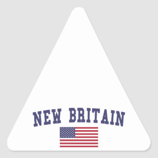 New Britain US Flag Triangle Sticker