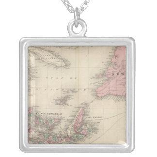 New Brunswick and Nova Scotia Square Pendant Necklace