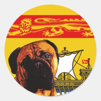 New Brunswick Bull Mastiff Classic Round Sticker