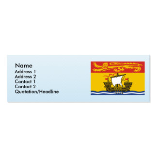 New Brunswick, Canada Double-Sided Mini Business Cards (Pack Of 20)