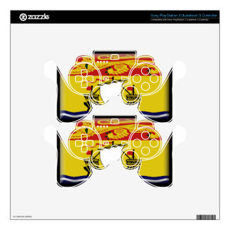 New Brunswick (Canada) Flag Skins For PS3 Controllers