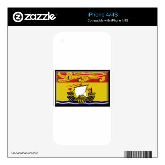 New Brunswick (Canada) Flag iPhone 4S Decals