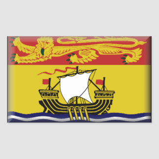 New Brunswick (Canada) Flag Rectangle Stickers