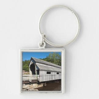 New Brunswick, Canada. Irish River covered Silver-Colored Square Keychain