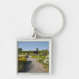 New Brunswick, Canada. Kingsbrae Garden in St. Silver-Colored Square Keychain
