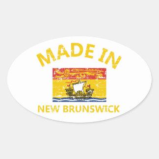 New Brunswick Coat of arms Oval Sticker