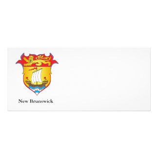 New Brunswick coat of arms Rack Card