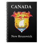 New Brunswick coat of arms Spiral Notebook