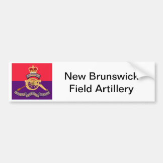 New Brunswick Field Artillery Crest Bumper Sticker