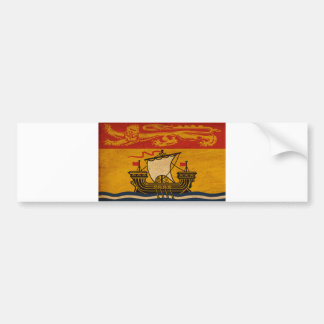 New Brunswick Flag Bumper Sticker