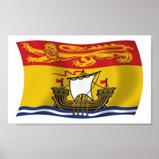New Brunswick Flag Poster Print