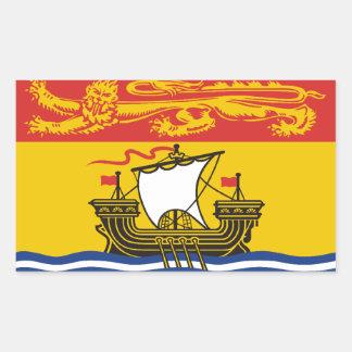 New Brunswick Flag Rectangular Sticker