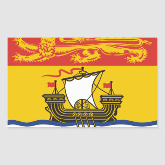 New Brunswick Flag Rectangle Stickers