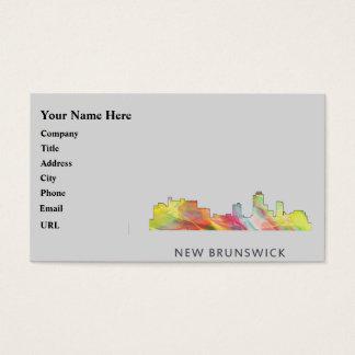 NEW BRUNSWICK, NEW JERSEY SKYLINE WB1 - BUSINESS CARD