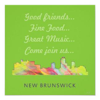 NEW BRUNSWICK, NEW JERSEY SKYLINE WB1 - CARD