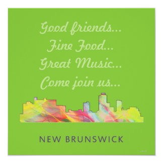 NEW BRUNSWICK, NEW JERSEY SKYLINE WB1 - INVITATION