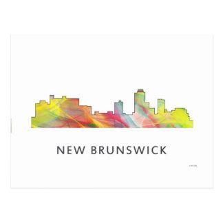 NEW BRUNSWICK, NEW JERSEY SKYLINE WB1 - POSTCARD
