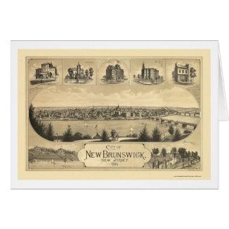 New Brunswick NJ Panoramic Map - 1880 Cards