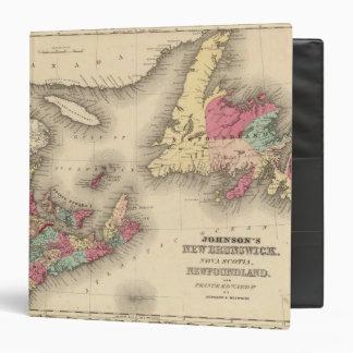 New Brunswick Nova Scotia Newfoundland 3 Vinyl Binders