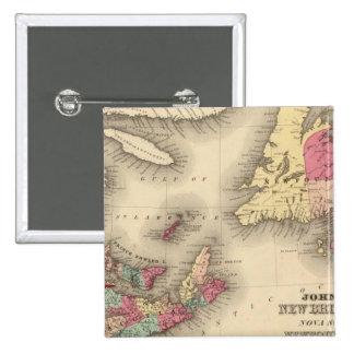 New Brunswick, Nova Scotia, Newfoundland 3 Button