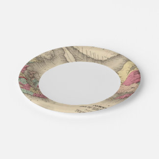 New Brunswick, Nova Scotia, Newfoundland 3 Paper Plate