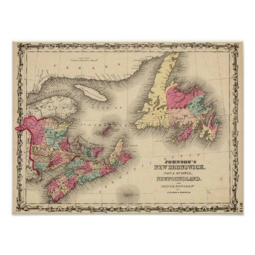 New Brunswick, Nova Scotia, Newfoundland 3 Poster