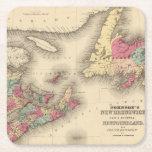 New Brunswick, Nova Scotia, Newfoundland 3 Square Paper Coaster