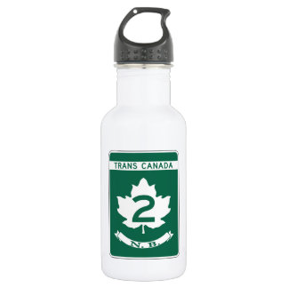 New Brunswick, Trans-Canada Highway Sign 18oz Water Bottle