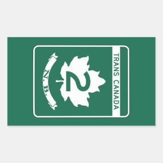 New Brunswick, Trans-Canada Highway Sign Rectangular Sticker