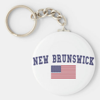 New Brunswick US Flag Keychain