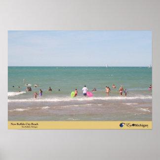 New Buffalo City Beach - Michigan Posters