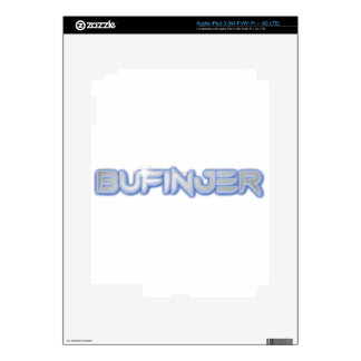 New Bufinjer text design Decals For iPad 3