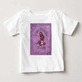 New Bundle of Joy! Purple back, purple dinosaur Baby T-Shirt