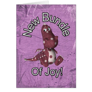 New Bundle of Joy! Purple back, purple dinosaur Cards