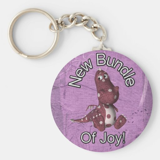 New Bundle of Joy! Purple back, purple dinosaur Key Chains
