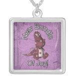 New Bundle of Joy! Purple back, purple dinosaur Custom Jewelry