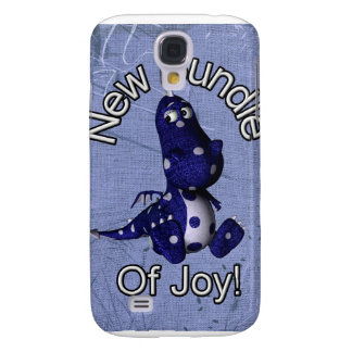 New bundle of joy with blue dino blue background samsung galaxy s4 covers