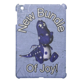 New bundle of joy with blue dino blue background iPad mini covers