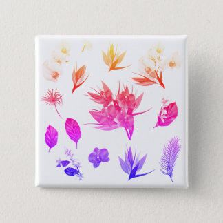 New buttons in shop : with hand-drawn Flowers